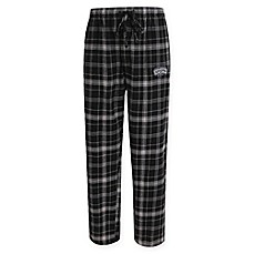 image of NBA San Antonio Spurs Men's Flannel Plaid Pajama Pant with Left Leg Team Logo