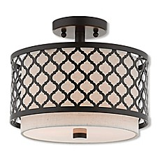 image of Livex Lighting® Arabesque Semi-Flush Mount Ceiling Fixture