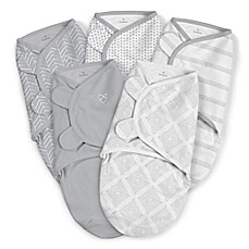 image of SwaddleMe® 5-Pack Original Swaddles in Grey
