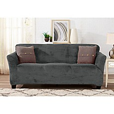 image of Great Bay Home Gale Strapless Sofa Slipcover
