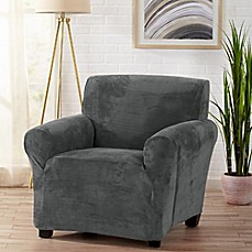 image of Great Bay Home Gale Strapless Chair Slipcover