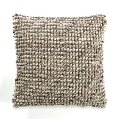 image of Avalon Square Throw Pillow in Brown/Cream