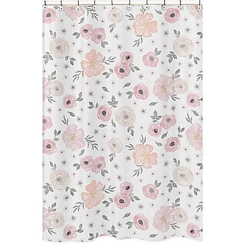 Sweet jojo designs watercolor floral shower curtain in pinkgrey sweet jojo designs watercolor floral shower curtain in pinkgrey mightylinksfo