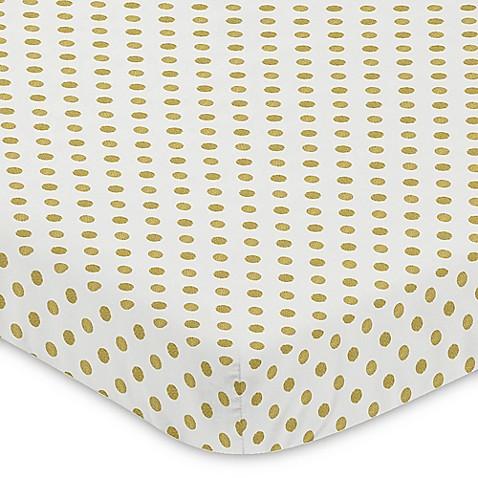Sweet Jojo Designs Amelia Polka Dot Fitted Mini Crib Sheet