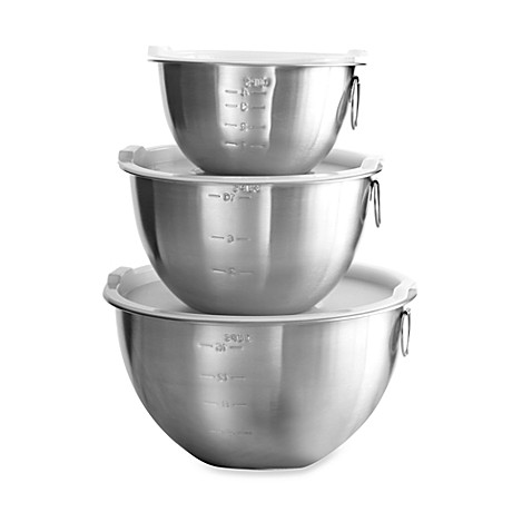 3 piece stainless steel mixing bowl set bed bath beyond. Black Bedroom Furniture Sets. Home Design Ideas
