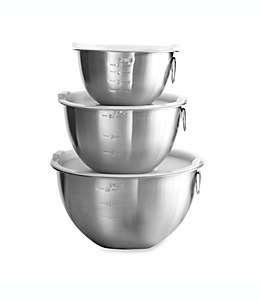 Tazones para mezclar de acero inoxidable SALT®, Set de 3 piezas
