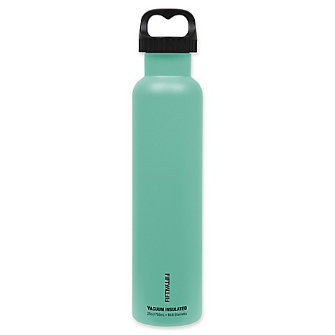 FIFTY/FIFTY 25 oz. Vacuum-Insulated 2-Finger Lid Water Bottle in Aqua