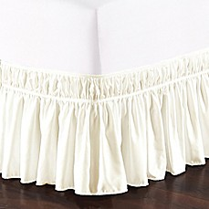 image of De Moocci Easy Wrap Ruffled Bed Skirt