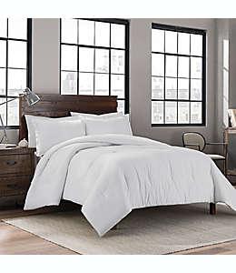 Set de edredón king de algodón Keeco liso color blanco