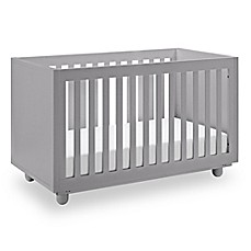 image of Storkcraft Status Violet 3-in-1 Convertible Crib in Pebble Grey