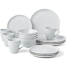 image of Lenox® French Carved™ Organic 16-Piece Dinnerware Collection in White