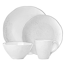 image of Lenox® French Carved™ Flower Dinnerware Collection in White