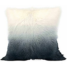 image of Cloud9 Design Ombre Goat Fur 20-Inch Square Throw Pillow in Grey