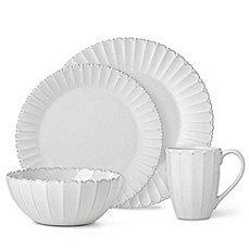 image of Lenox® French Carved™ Bead Dinnerware Collection in White