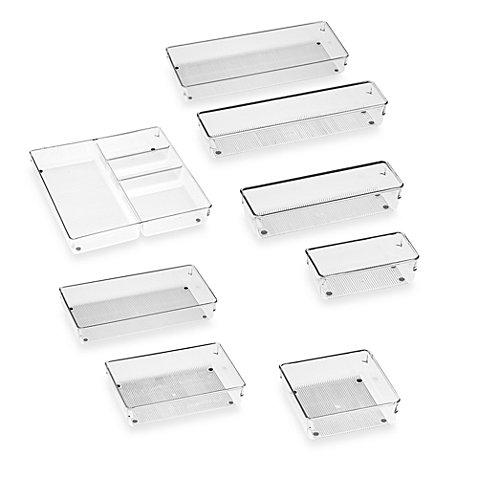 Interdesign 174 Linus Acrylic Drawer Organizers Bed Bath