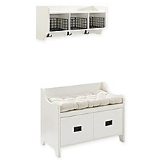 image of Crosley Fremont Entryway 2-Piece Set in Distressed White