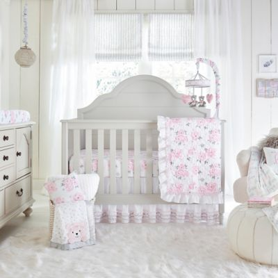 wendy bellissimo savannah watercolor floral 4 piece crib bedding set - Baby Bedding For Boys