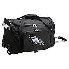 image of NFL Philadelphia Eagles 22-Inch Wheeled Carry-On Duffle with Embroidered Logo