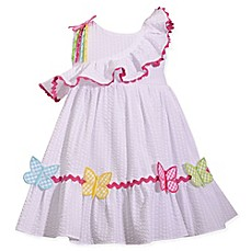 image of Bonnie Baby® Butterfly Dress in White