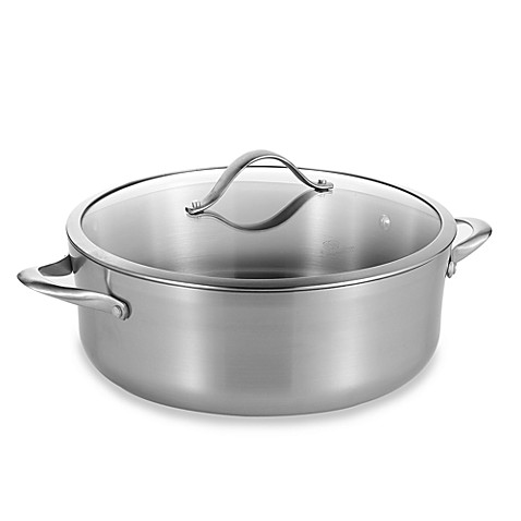 calphalon stainless steel 8quart dutch oven u0026 cover bed bath u0026 beyond