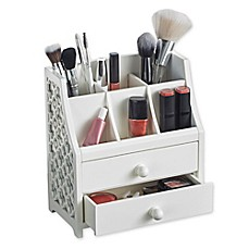 image of 2-Drawer Cosmetic Organizer in White