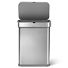 image of simplehuman® 58-Liter Rectangle Sensor Can with Voice Activation
