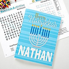 image of Happy Hanukkah Coloring Activity Book & Crayon Set