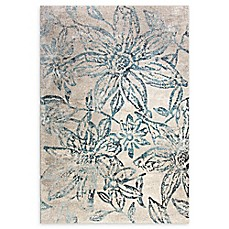 image of Dynamic Rugs Fusion Stencil Rug in Blue/Grey
