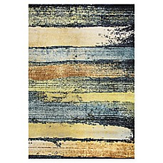 image of Dynamic Rugs Fusion Brushstrokes Multicolor Rug
