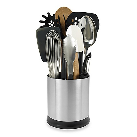 OXO Good Gripsu0026reg; Stainless Steel Rotating Utensil Holder