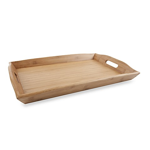 12-Inch x 20-Inch Bamboo Serving Tray
