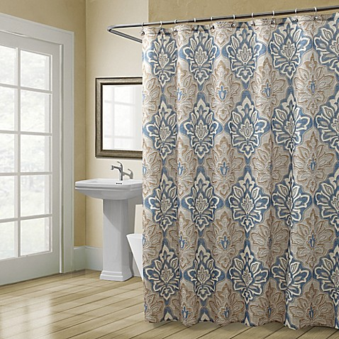 Croscill captain 39 s quarters shower curtain bed bath - Madison park bathroom accessories ...