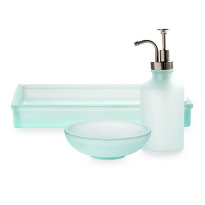 Porto Frosted Glass Bath Ensemble Bed Bath Beyond