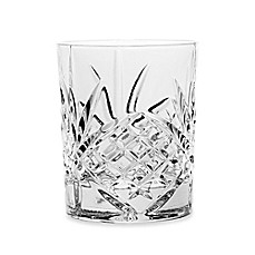image of Godinger Dublin 8 oz. Crystal Double Old Fashioned Glasses (Set of 4)