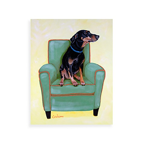 Dobie on Green Wall Art