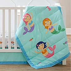 image of Olive Kids Mermaids 3-Piece Crib Bedding Set