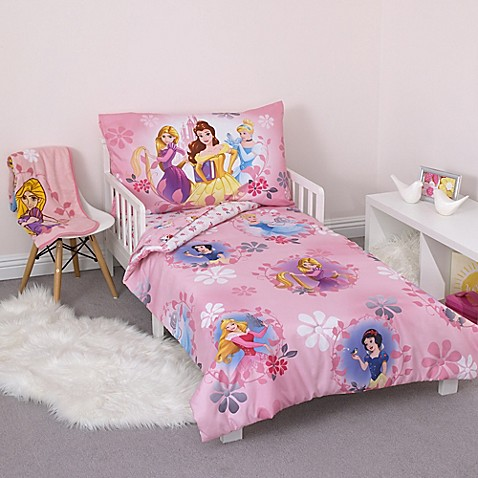 Disney 174 Princess 4 Piece Toddler Bedding Set Bed Bath