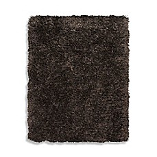 image of Home Venetian Shag Rug in Chocolate Brown