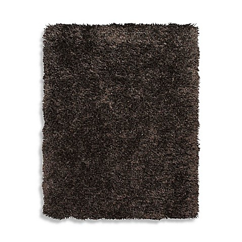 Home Venetian Shag Rug in Chocolate Brown