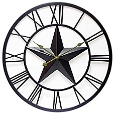 image of Infinity Instruments 27-Inch Patriot Wall Clock in Dark Brown