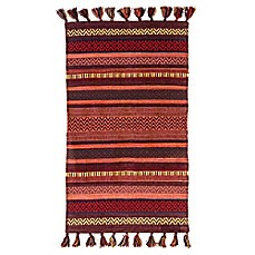 image of Dynamic Rugs Jade Rustic Stripe Handcrafted Rug