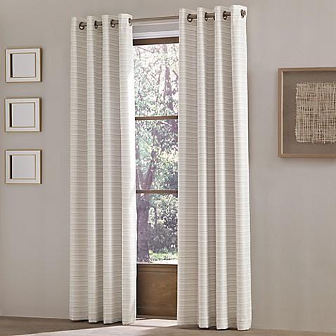 J Queen New York Essex Grommet Top Window Curtain Panel