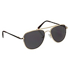 image of Tiny Treasures Aviator Toddler Sunglasses in Gold