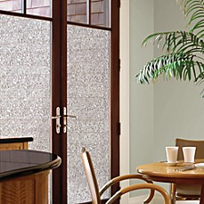 image of decorative privacy film door glass cling in mosaic - Window Film Decorative
