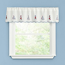 image of Lighthouse Kitchen Window Curtain Valance