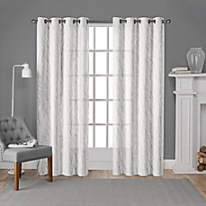 Exclusive Home Woodland Grommet Window Curtain Panel Pair In White