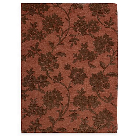 "Nourison Skyland 5'6"" x 7'5"" Hand Tufted Area Rug in Rust/Brown"