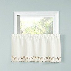 image of Seashells Kitchen Window Curtain Tier Pair