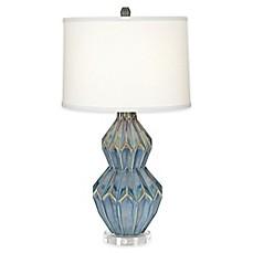 Image Of Pacific CoastR Lighting Ceramic Zigzag Table Lamp
