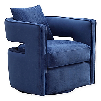 Image Of TOV Furniture Kennedy Swivel Chair